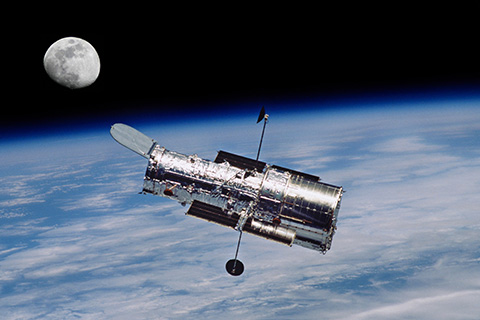 Hubble telescope in orbit. © Can Stock Photo Inc. / njnightsky
