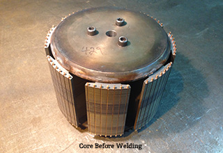 DANCO Core Before Welding
