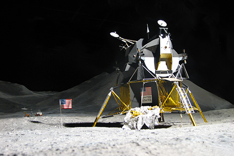 Lunar Module on surface of moon. © Can Stock Photo Inc. / zenomat