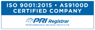 PRI Programs Registrar Certified ISO9001 AS9100-4c